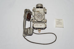 Altes sowjetisches Telefon Stockbild