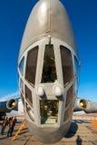Altes sowjetisches Transportflugzeug IL-76 Stockfoto
