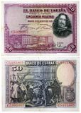 Altes spanisches Geld Lizenzfreies Stockfoto