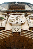 Altes spanisches Kolonialfort-Tor lizenzfreies stockbild
