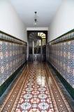 Altes spanisches Wandfliesenmuster Stockbild