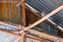Altes städtisches Dach Stockfoto