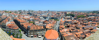 Altes Stadt-Panorama Porto, Porto, Portugal Stockfotos