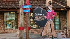 Altes Stadt-Scottsdale-Zeichen lizenzfreie stockfotografie