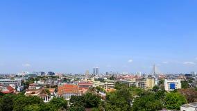 Altes Stadtpanorama Bangkoks Stockbilder