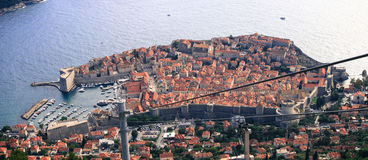 Altes Stadtpanorama von Dubrovinik, Croatie Stockbild