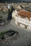 Altes Stadtquadrat Stockfotos