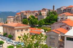 Altes StadtStadtbild Sartene, Korsika, Frankreich Lizenzfreie Stockfotos