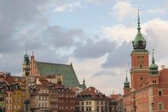 Altes Stadtstadtbild Warzsaw stockbilder