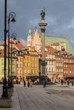 Altes Stadtstadtbild Warzsaw stockfotos
