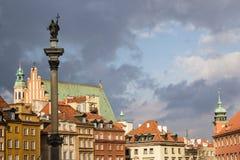 Altes Stadtstadtbild Warzsaw lizenzfreies stockbild