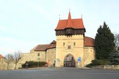 Altes Stadttor in Zatec Stockbild