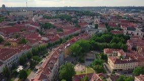 Altes Stadtvideo Vilnius stock footage