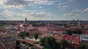 Altes Stadtvideo Vilnius stock video