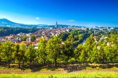 Altes Stadtzentrum von Bern, die Hauptstadt von der Schweiz, Europa Lizenzfreies Stockbild