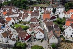 Altes Stavanger - Ansicht stockfoto