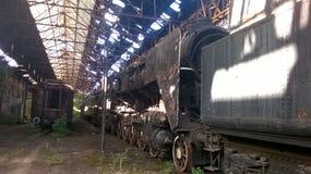 Altes steamloco 424 Lizenzfreies Stockbild