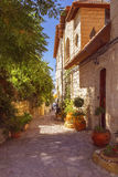 Altes Steinhaus in Safed, oberes Galiläa, Israel lizenzfreies stockbild