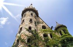 Altes Steinschloss nahe zu Sozopol-Stadt Stockbilder
