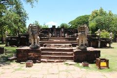Altes Steinschloss in Thailand Lizenzfreies Stockfoto