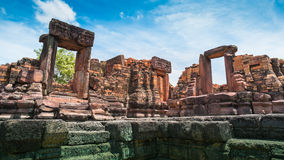 Altes Steinschloss, Thailand stockfoto