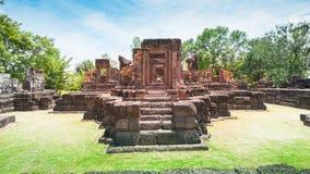 Altes Steinschloss, Thailand Stockbild