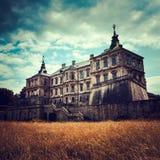 Altes stilisiertes Pidhirtsi-Schloss Lizenzfreies Stockfoto