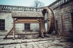 Altes stilisiertes Pidhirtsi-Schloss, Dorf Podgortsy Lizenzfreie Stockfotografie