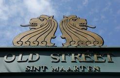 Altes Straßenschild Lizenzfreies Stockfoto