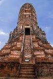 Altes stupa am ayudthaya, Thailand Lizenzfreies Stockbild