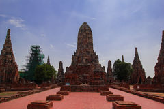 Altes stupa am ayudthaya, Thailand Stockfoto