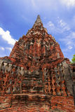 Altes stupa am ayudthaya, Thailand Lizenzfreie Stockfotos