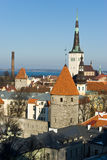 Altes Tallinn-Panorama Stockfoto