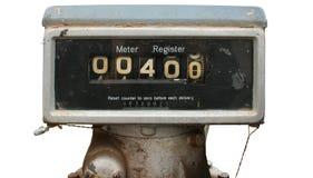 Altes Tanksäulemeter Lizenzfreie Stockbilder