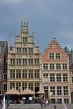 Altes Teil der berühmten mittelalterlichen Stadt Gent Lizenzfreie Stockfotos