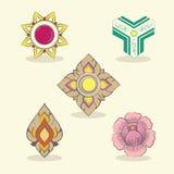 Altes thailändisches Design Stockfotos