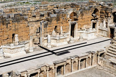 Altes Theater in Hierapolis Lizenzfreies Stockfoto