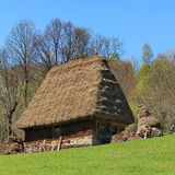 Altes traditionelles Blockhaus Lizenzfreies Stockbild