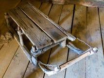 Altes traditionelles Dorf des Pferdeschlittens Lizenzfreies Stockfoto