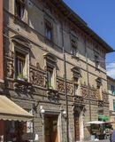 Altes traditionelles Haus bei Castiglione Del Lago toskana Italien stockfotos
