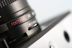 Altes UDSSR-Kameraobjektiv, Details Stockbild