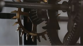 Altes Uhrwerk-Ticken stock video