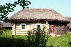 Altes ukrainisches Haus, Pirogovo; Kiew, Ukraine Lizenzfreie Stockbilder