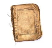 Altes unbelegtes Buch mit Feldern. lizenzfreie stockfotografie