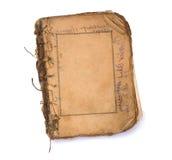 Altes unbelegtes Buch mit Feldern. stockbilder