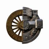 Altes und neues abstraktes Bild des Rades Lizenzfreie Stockbilder