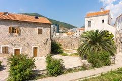 Altes und neues Budva, Montenegro Stockfoto