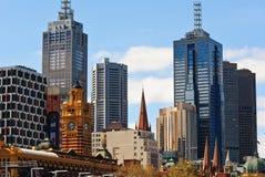 Altes und neues Melbourne lizenzfreie stockfotos