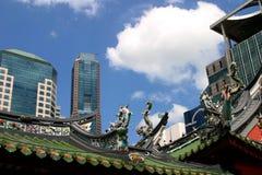 Altes und neues Singapur Lizenzfreie Stockfotografie
