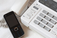 Altes und neues Telefon Stockfotos